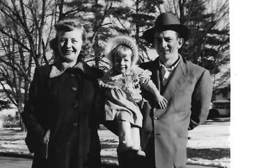 Moma, Daddy and I at 2 years old (1953?)