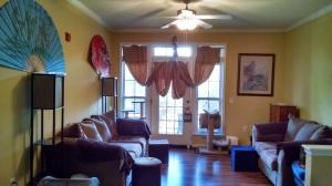 Peaceful living room lighting.