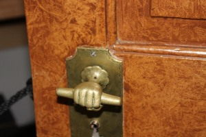 Strange doorknob seen at Old Salem , NC