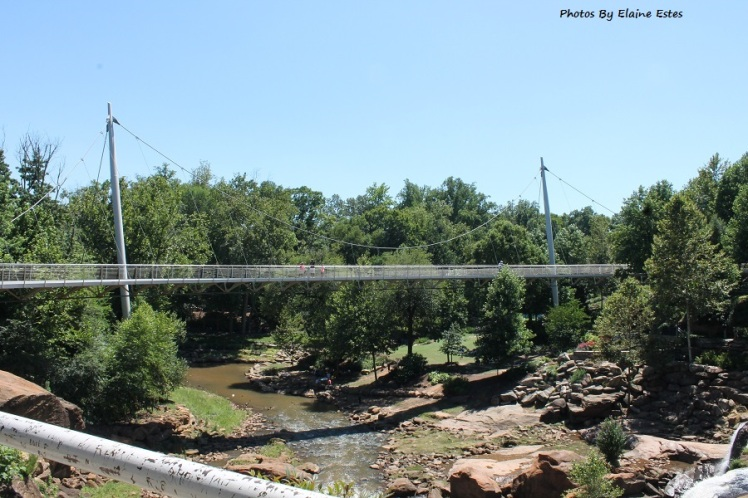 Bridge over the Reedy River is 344 feet long.