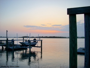 A calming sunset at Tops Sail, NC.