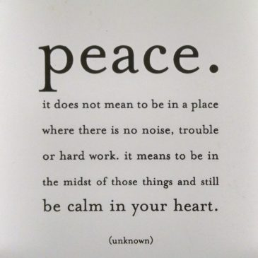 One definition of peace.