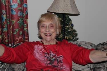 A happy Aunt Helen.