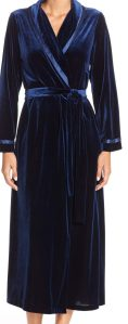 Navy blue velvet robe
