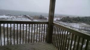 Snow at beach