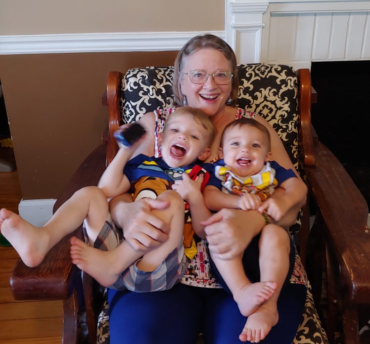 Grandmother with grandsons